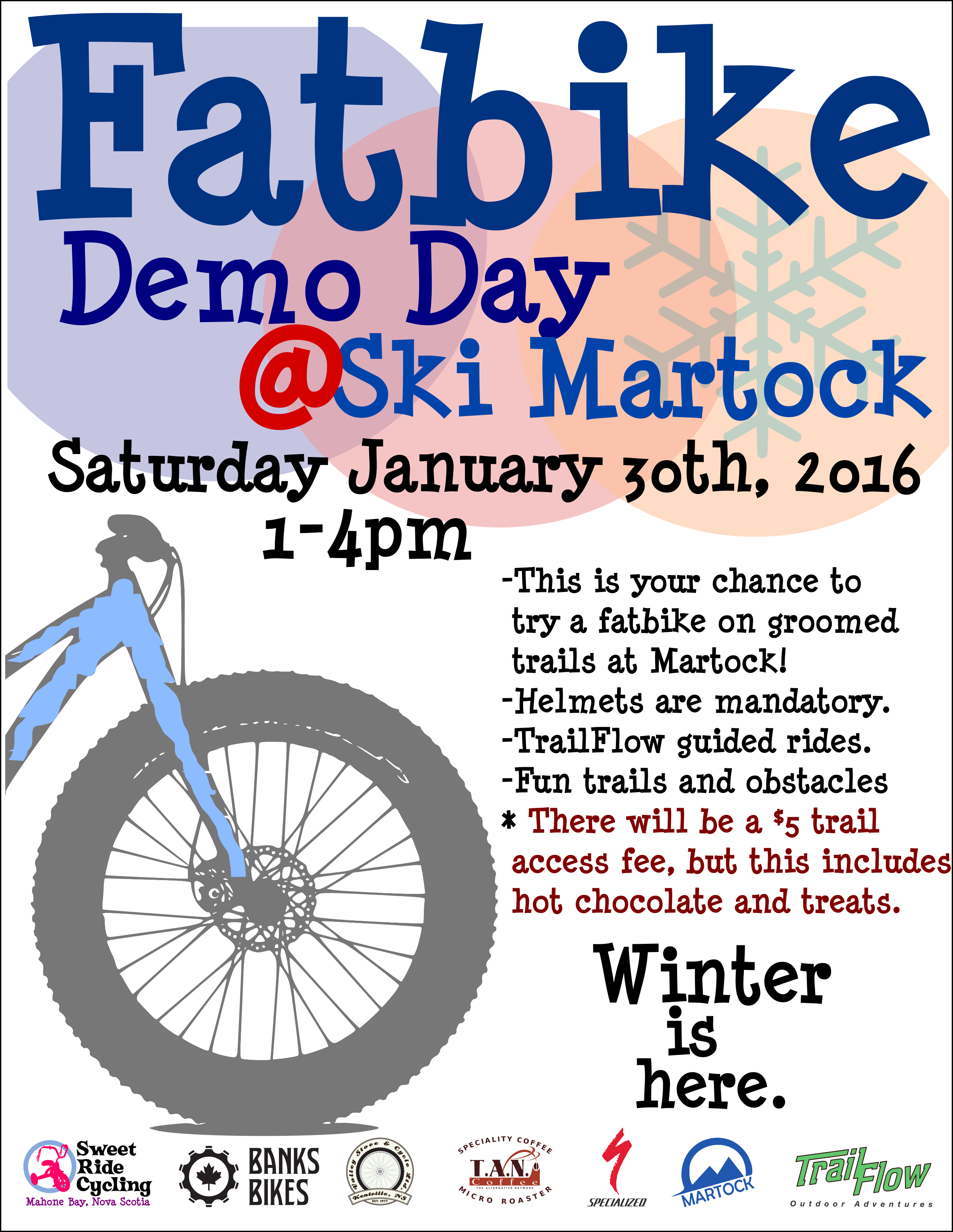 fatbike demo day poster 4 | Sweet Ride Cycling